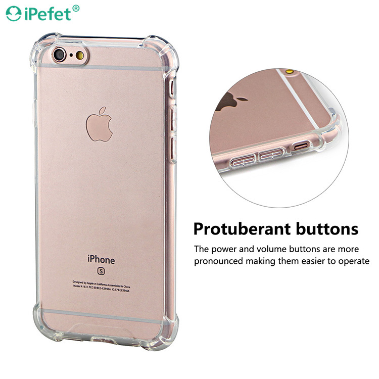 iPefet- Transparent clear Shockproof TPU Phone Case Mobile for iPhone 6
