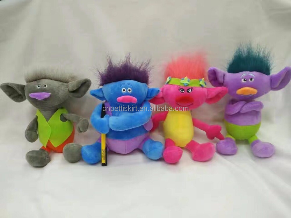 2016 New Gift DreamWorks Trolls Poppy Girl Plush Doll with colorful hair