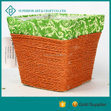 Orange Rectangle Rattan Set For Outdoor Dinning