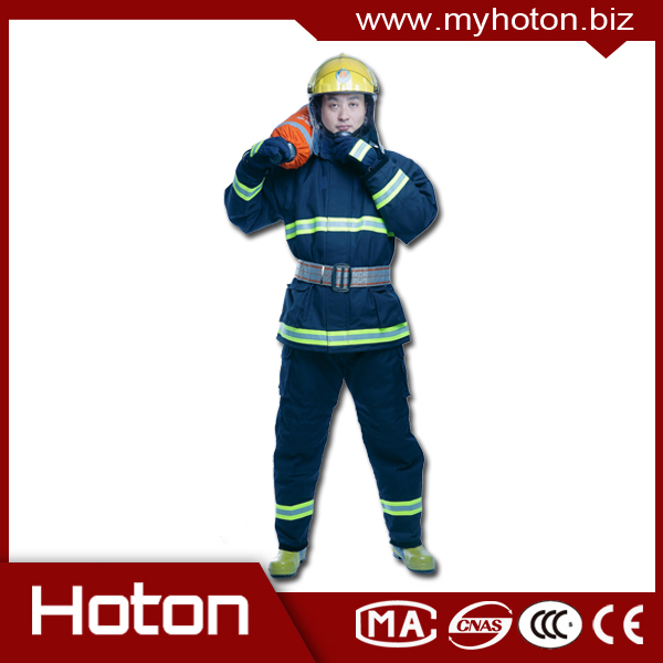 Professional EN496 Nomex IIIA Fire fighting suit aramid anti fire clothing made in China