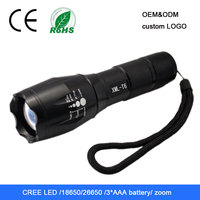 high power focus zoom wall mounted emergency rechargeable flashlight