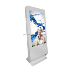 HD shopping mall 55 inch stand alone LCD loop video digital signage display stands
