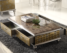 Classic popular square marble top center coffee table /turkey furniture CT031
