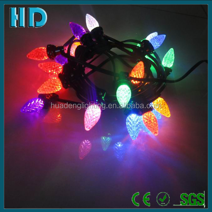 Outdoor waterproof helloween decorative outfit string lights c9 0.96W led christmas lights