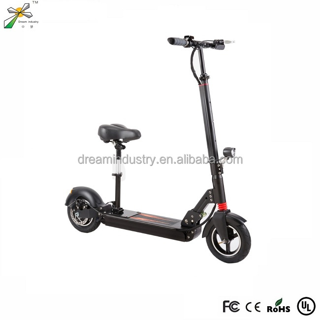 2017 new 2 big wheel electric double seat mobility kick scooter with free folding handle