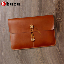 2016 Luxury Genuine Leather Case for MacBook air 13 inch/ipad air 2 Laptop Sleeve Factory