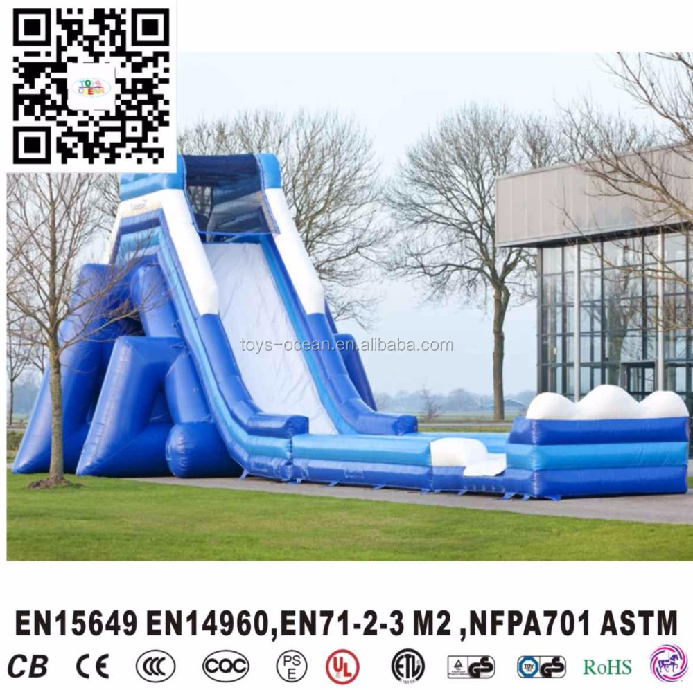 outdoor inflatable small mega water slide for kids and adults