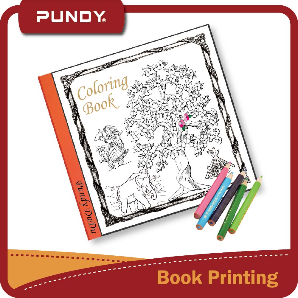 cheap price hardcover book printable adult coloring books for adults