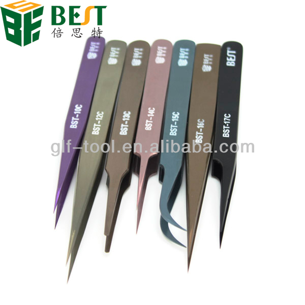 curved straight and slanted optical tweezers for mobile phone/laptop/computer repair tools