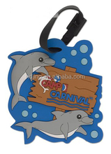 free sample cartoon customized made animal shape luggage tag (HC-024)