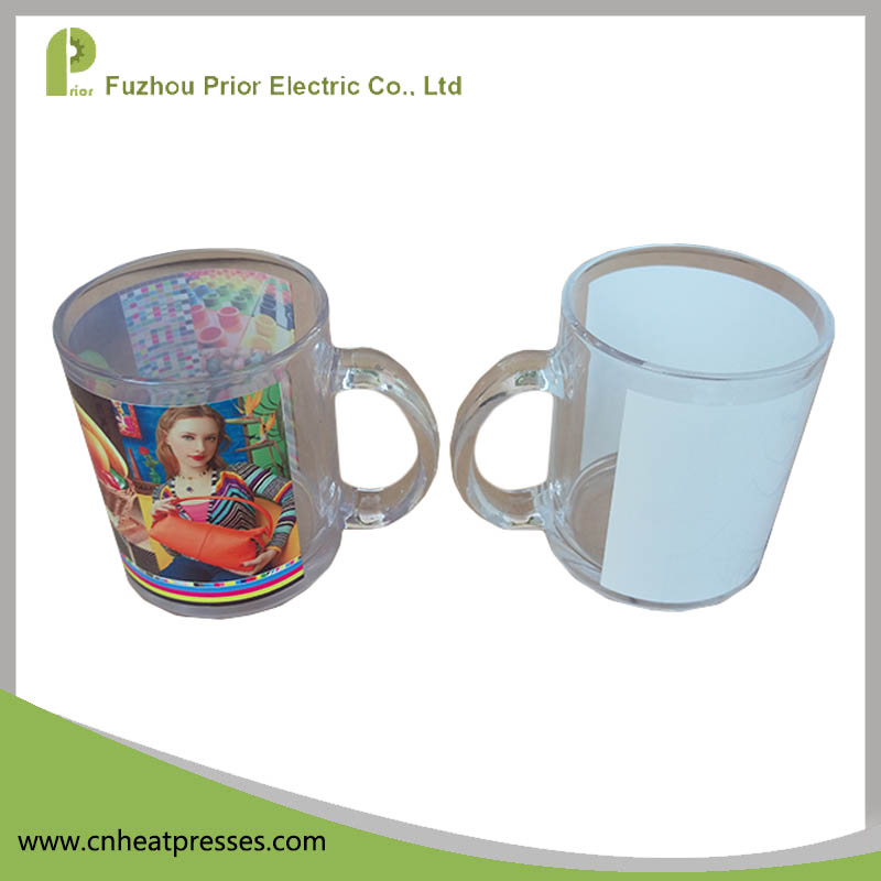 Prior Customized Heat Press 14oz Clear Coated Blank Sublimation Glass Beer Mugs With Handles