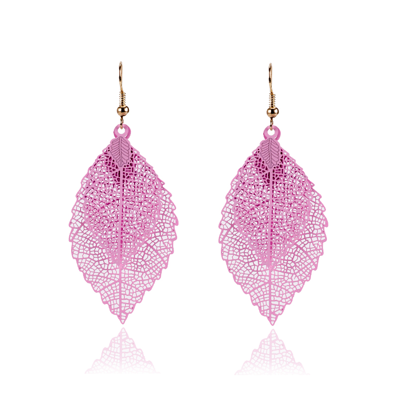 New-Fashion-Punk-Dangle-Earrings-for-Women-Colorful-Alloy-Drop-Hanging-Long-Double-Leaf-Earring-Gold (1)