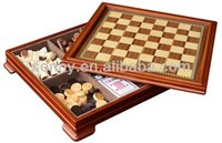 Quality wooden magnetic game set in box