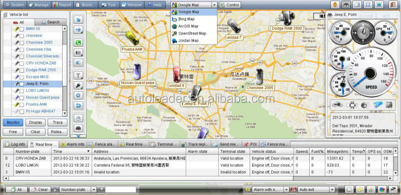 AL-900S best free software gps /gsm/gprs sim card tracker gps tracking software platform