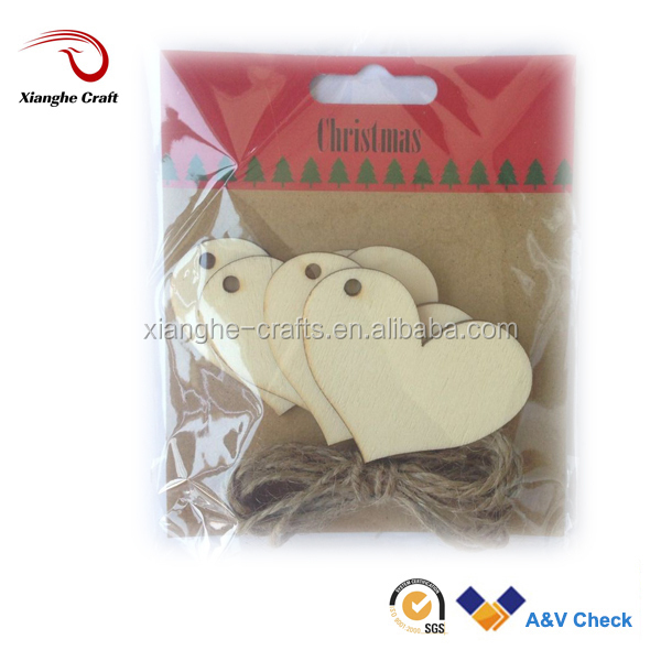 wooden craft heart shape made of pine wood natural for children toy