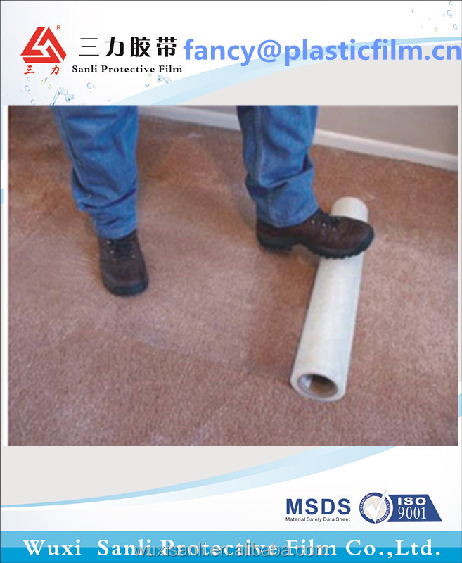 PE Water Based Acrylic Pressure Sensitive Adhesive Carpet Surface Protection Film