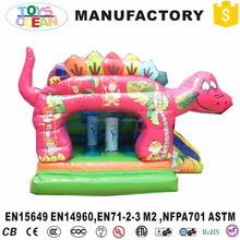 Tropical Animal Jungle inflatable dinosaur bounce house party jumpers for sale
