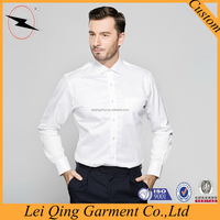 New designer clothing manufacturers 100% cotton pure white custom shirt