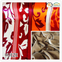 polyester and spandex knitting printed span fabric for garment sofa