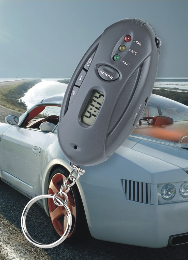 alcohol tester for samsung/Alcohol Tester with flash LED light for safety driving With keyring AT2120