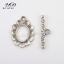 nickel free lead free metal alloy jewelry findings classical flower shape toggle clasp