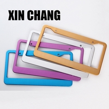 Aluminum colorful custom license plate frame