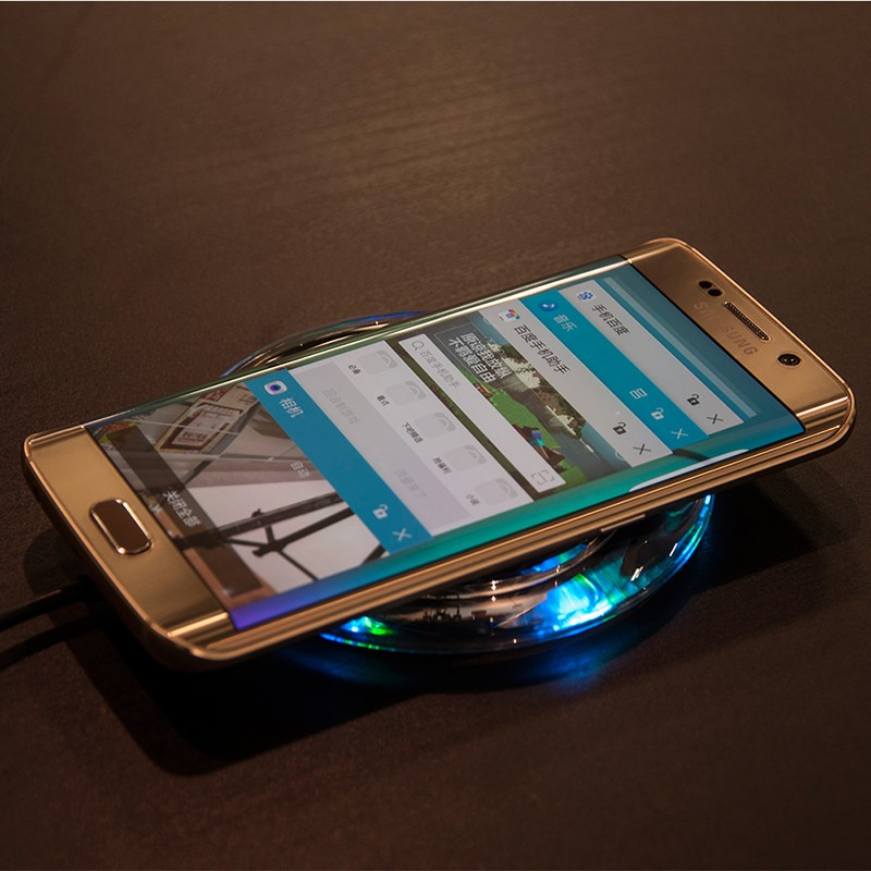 Round Qi Wireless Fast Charger Quick Cell Phone Charger for Nexus4