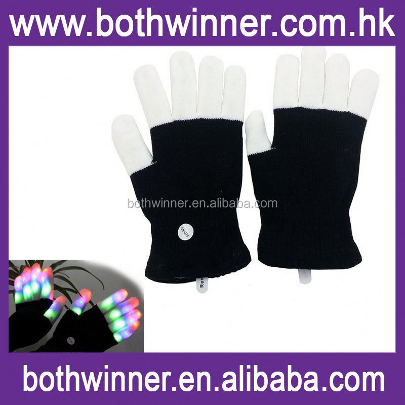 Led rave glove light ,H0T481 magic light up gloves , remote control 12 colors led glove