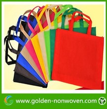 PP spunbond non-woven bag supplier from Golden/nonwoven shopping shopping bag, non woven supermarket tnt grocery bag