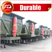 factory 3 axle 40ton end tipper semi trailer end dump semi-trailer rear dump truck trailer for sale