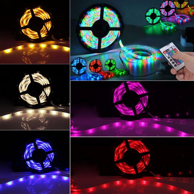 5050rgb 30leds led flexible strip for christmas light with ir remote controler