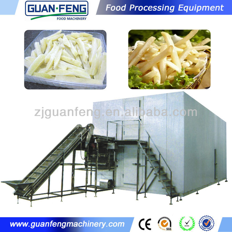 fully automatic iqf freezer potato chips production line