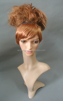 Female posing mannequin head realistic plastic head for hair wigs