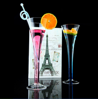 Crystal cocktail glass stem martini glass long drinking glass