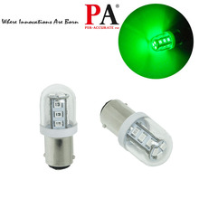 PA 1142 Ba15d 15 SMD 9-32V Super Green Garboad LED Boat Drain Plug Navigation Marine light
