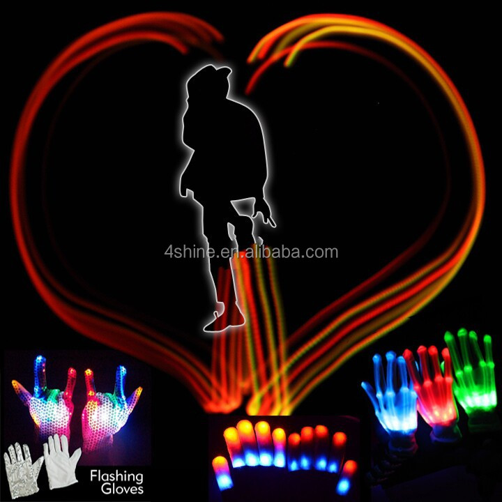 Event&Party Novelties Led Flashing Gloves,Led Gifts Light Gloves,Holiday Party Led Gloves