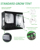 Orientrise large hydroponic indoor grow box /plant grow tent 300x300x200
