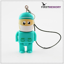 2016 moveable Doctor nurse model novelties to import USB 2.0 Pendrive