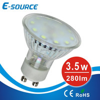 12V&220V 3.5W GU10 glass spotlights SMD2835,spot lights led,CE