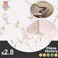 Factory Supplier pvc rubber beautiful rose flower wallpaper wall stickers home decor