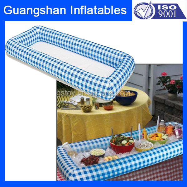 plastic picnic drinks chiller Inflatable salad serving bar