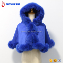 2017 Hot Selling !! Cashmere Fur Cape Children Winter Poncho