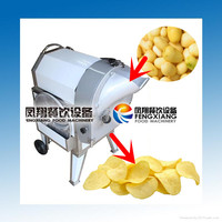 FC-312 Electric Automatic Industrial Potato crisp making machine (3 in 1) Slice, French fries, Cube (MOB:86-18902366815)