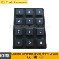 12 keys rubber button numeric keypad silicone rubber lock keypad