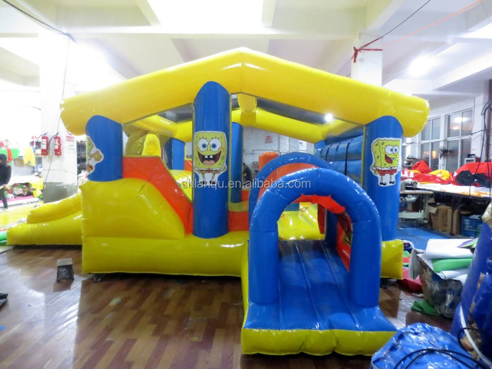 commercial Attractive Custome Inflatable Bounce Combo with slide for kids