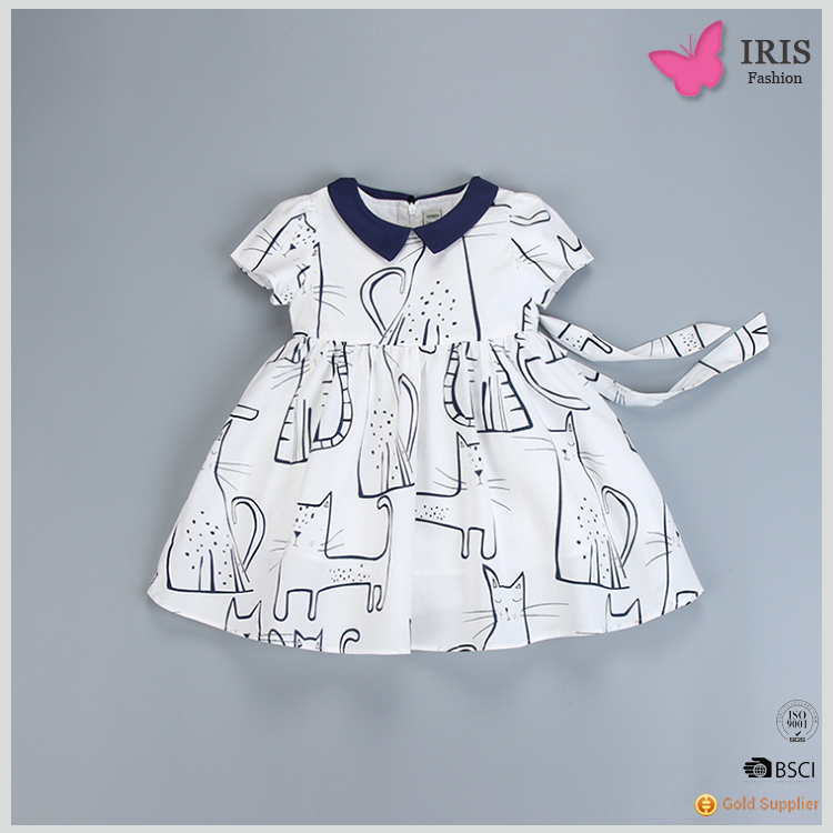 Baby Girl Cotton Dress Baby Frocks Designs Daily Summer Dress mk-d41