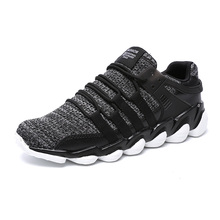 High quality Running Shoes air cushion sole lightweight knitting fabric Shoes for men sports shoes