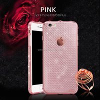 pc tpu oem phone case for iphone 6 / soft plating tpu material phone case 5s 6/6s with transparent clear mobile cover 0.3mm