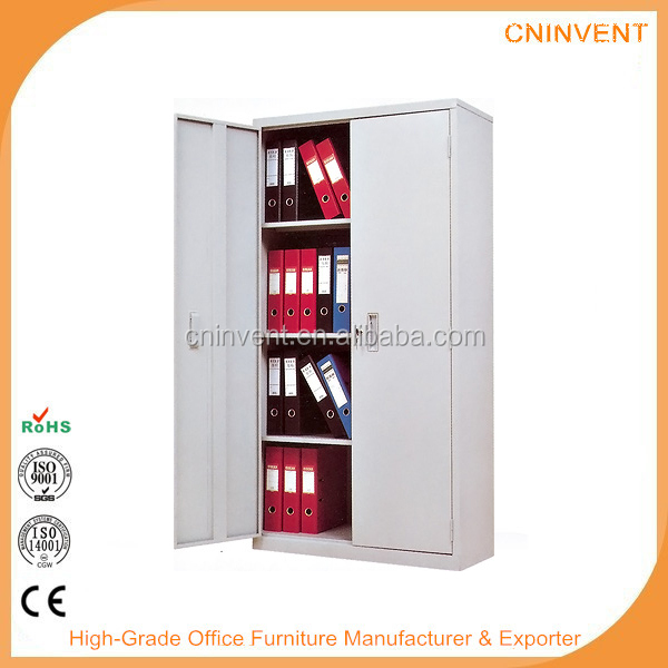 knock down office furniture double door steel cabinet / lockable storage cabinets