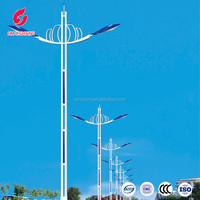 Double arm Street light Manufacturer energy saving outdoor lighting pole